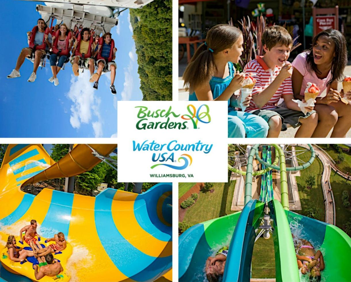 Busch Gardens Williamsburg Water Country Usa 2 Park Fun Card Fasci Garden