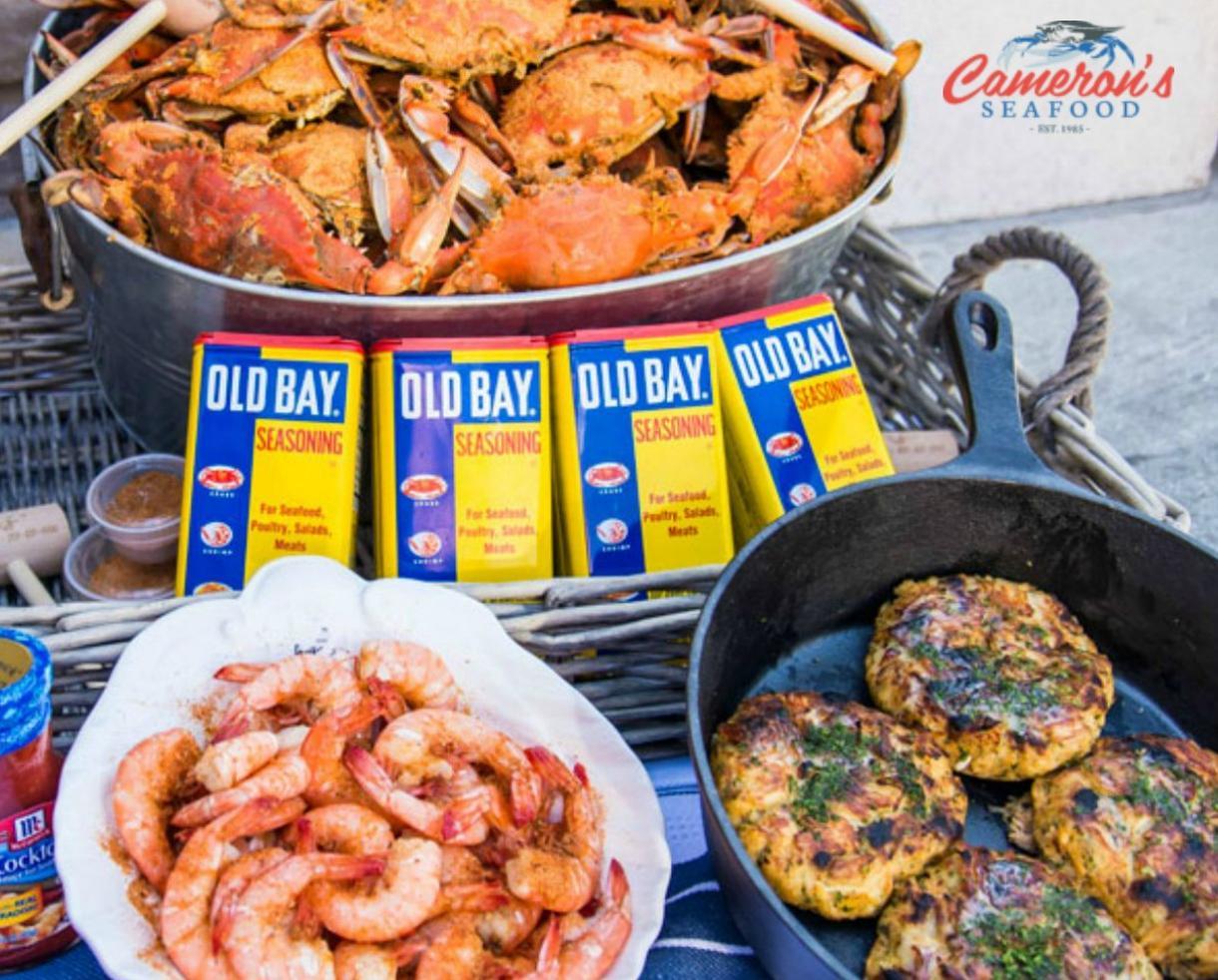 Ultimate Crab Feast! Half Bushel of Steamed MD Crabs, Steamed Shrimp, Crab Cakes, Crab Bisque & More!