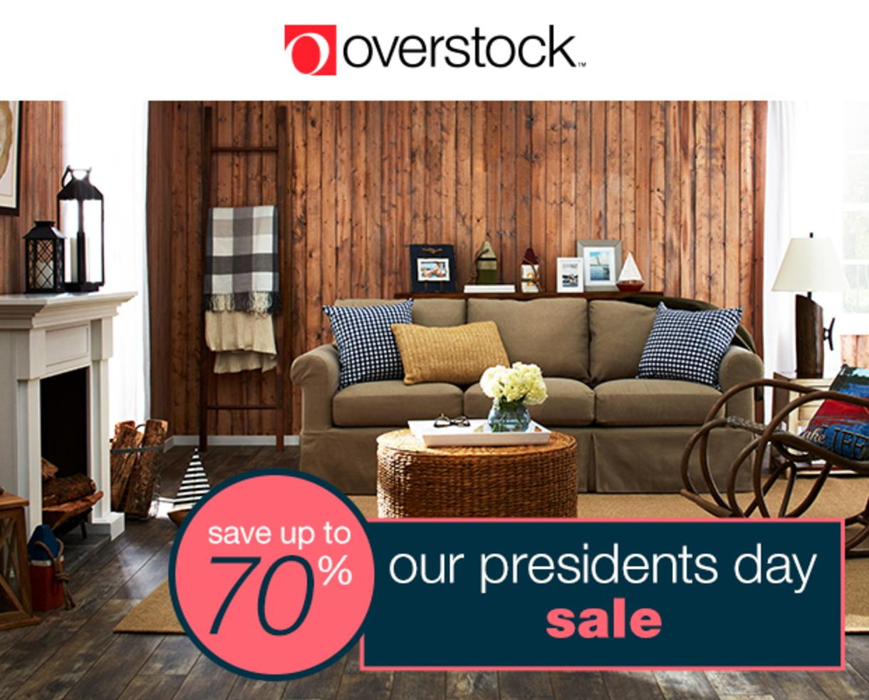 Save Up To 70% Off At Overstocku0027s Presidentu0027s Day Sale!