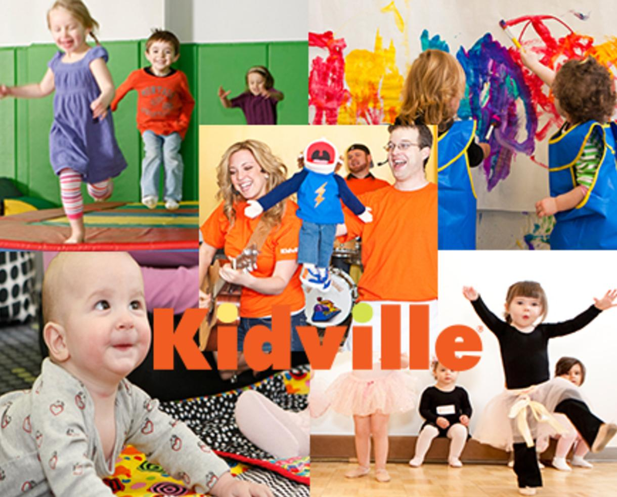 $49 for KIDVILLE Winter Sampler Package - 3 Classes and 2 Playspace Passes in Bethesda (67% Off)