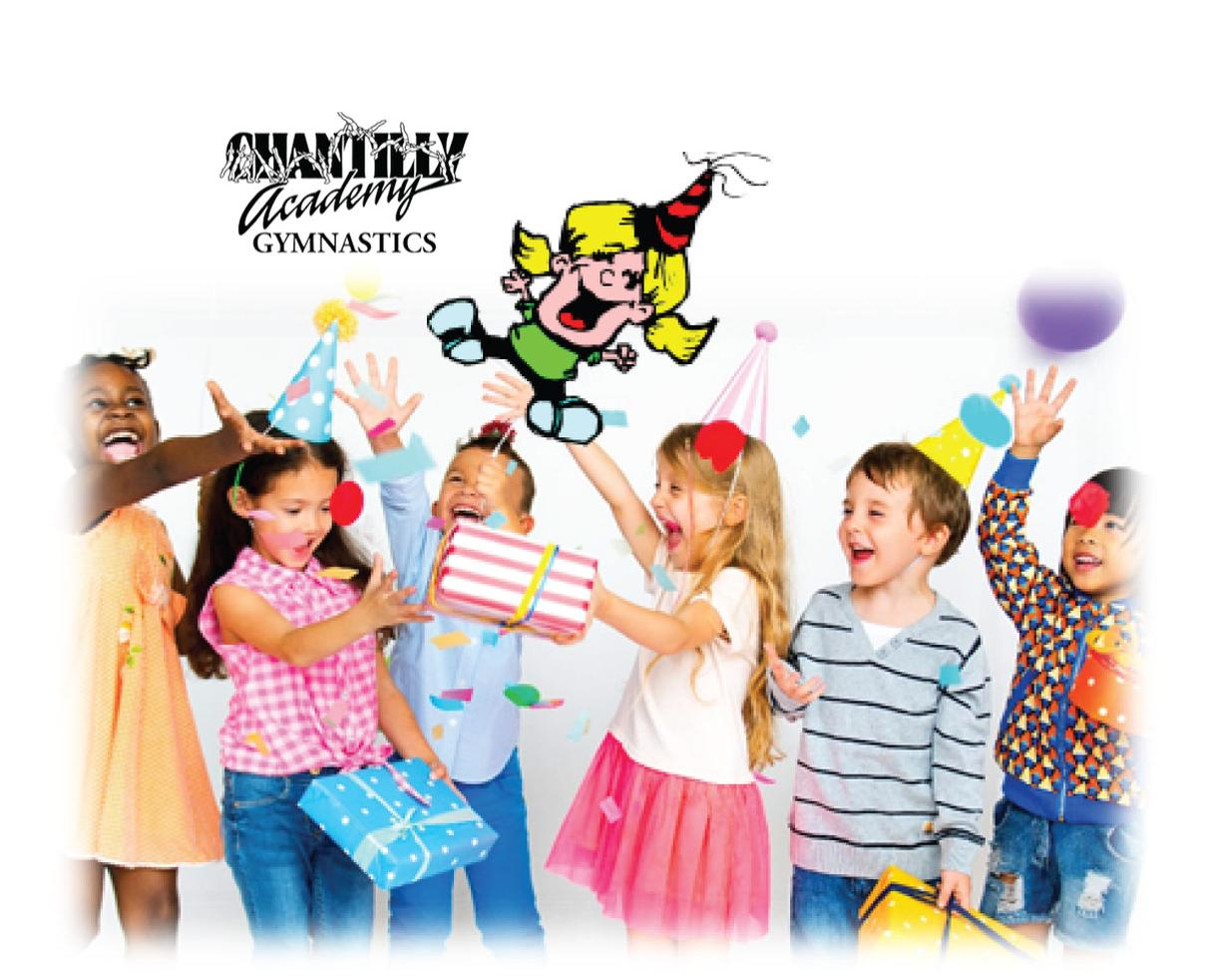 Chantilly Academy Gymnastics Blast Birthday Party