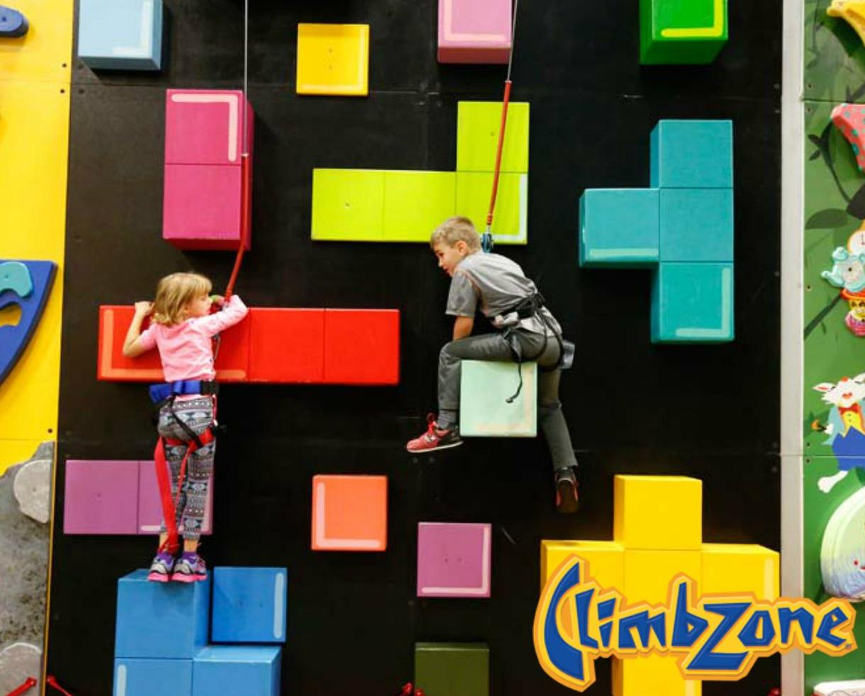 TWO ClimbZone Indoor Rock Climbing Admissions