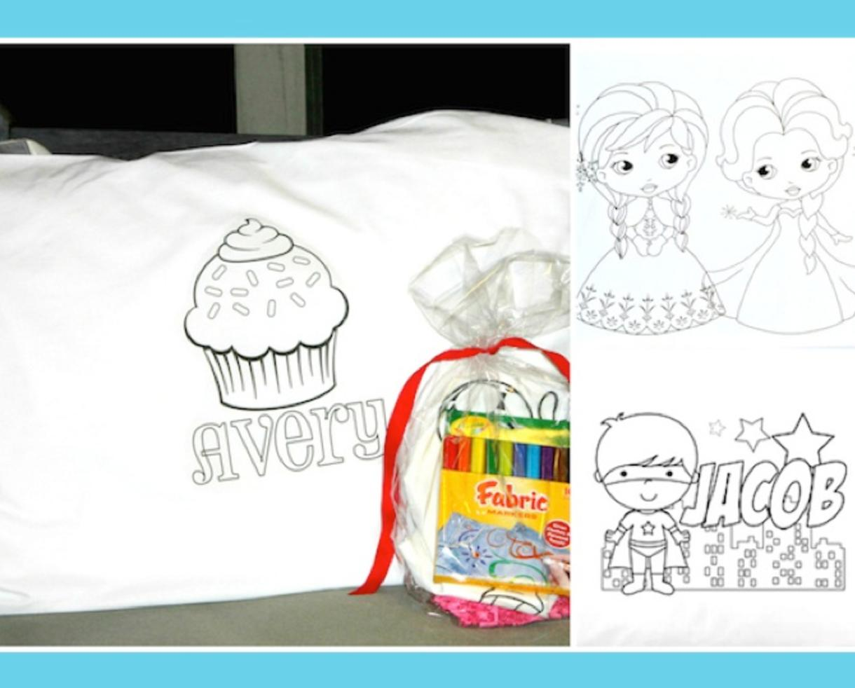 Deal: $12 for Personalized Kids Color-On Pillowcase – Includes ...