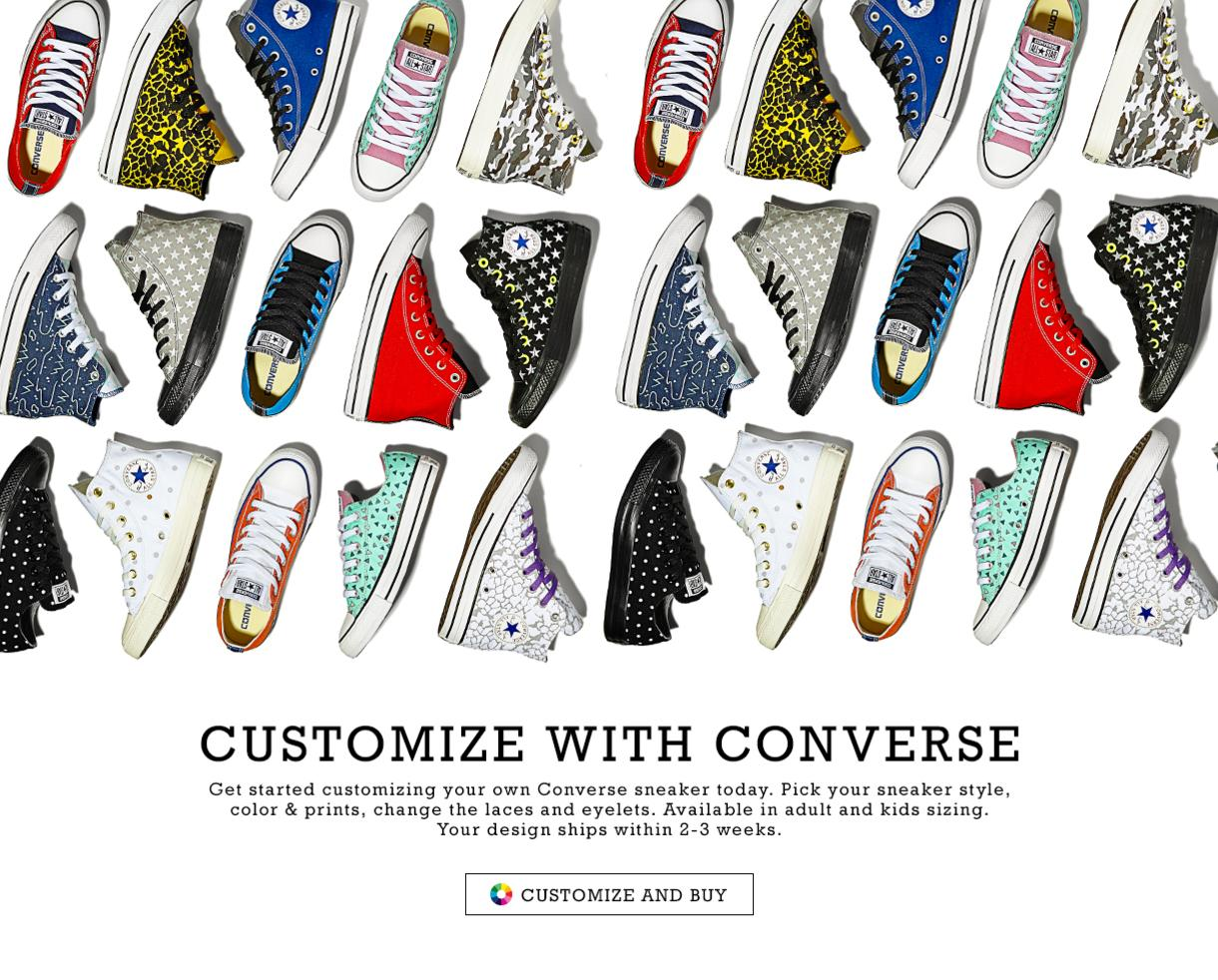 Design Your Own Converse Sneaker - Your Custom Design Ships within 2-3  Weeks! 36e79ea97dad