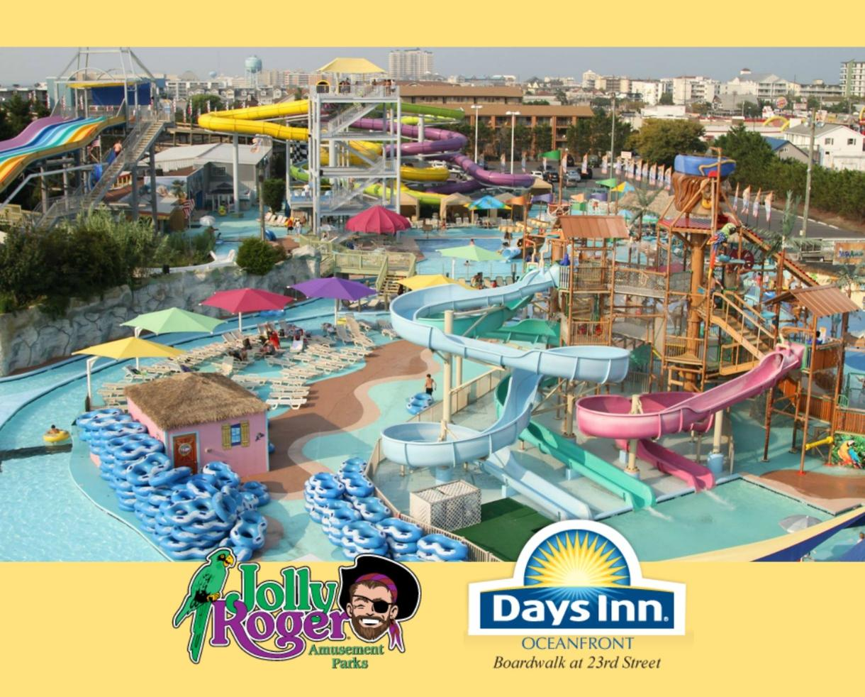 $535+ for 2 or 3 Night Ocean City Beachfront Getaway + Jolly Roger WATER PARK, MINI GOLF & More - Ocean City, MD - Valid JUNE - AUGUST (Up to 28% Off)