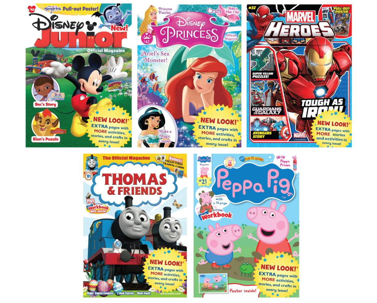 One-Year (6 Issues) Activity Magazine Subscription to Disney Junior, Thomas & Friends™, Disney Princess, Peppa Pig™ and MORE!