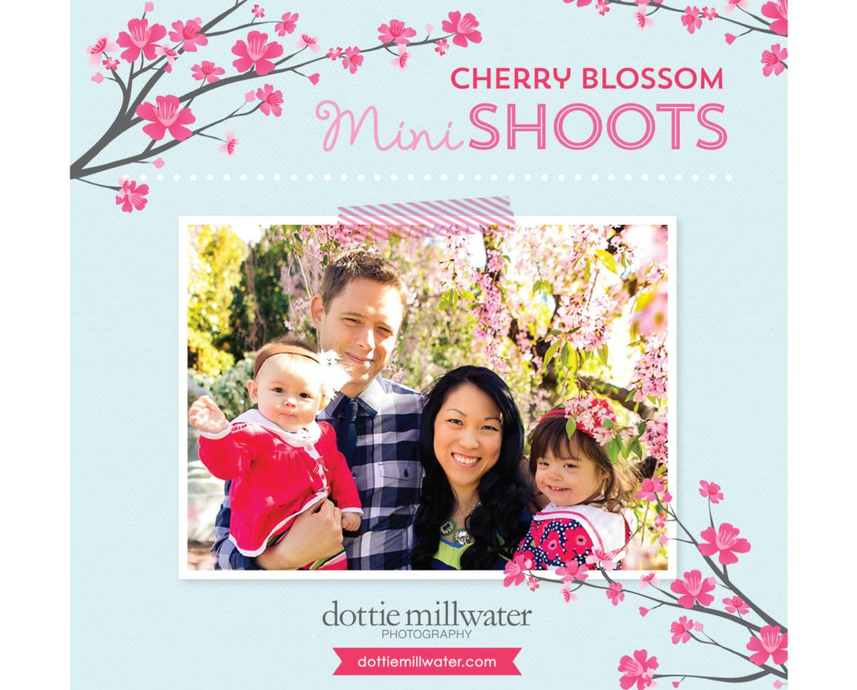$150 for Cherry Blossom Family Portrait Session & ALL Digital Images by Dottie Millwater Photography (50% Off)