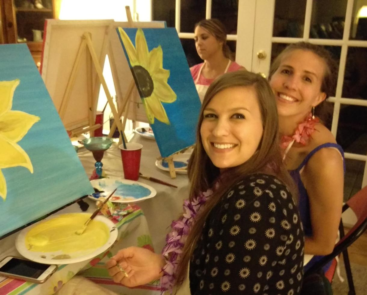 $180 for Two-Hour Paint Party for 12 People from Part-Time Picasso - Silver Spring (40% Off)