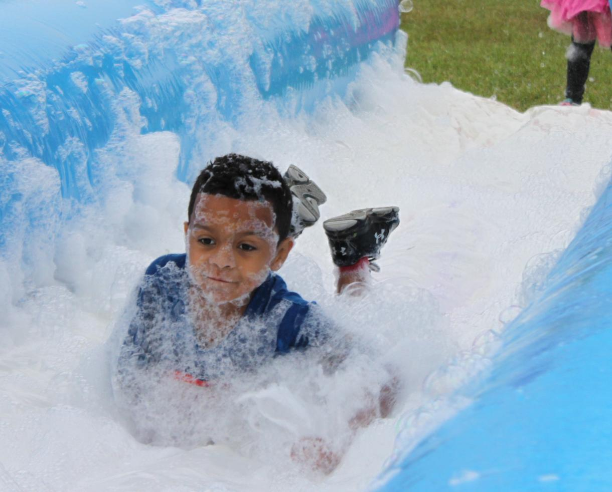 $35+ for 1 Adult & 1 Child Admission to the Double Bubble Fun Run for Ages 2+ at Crumland Farms in Frederick ($70 Value - 50% Off)