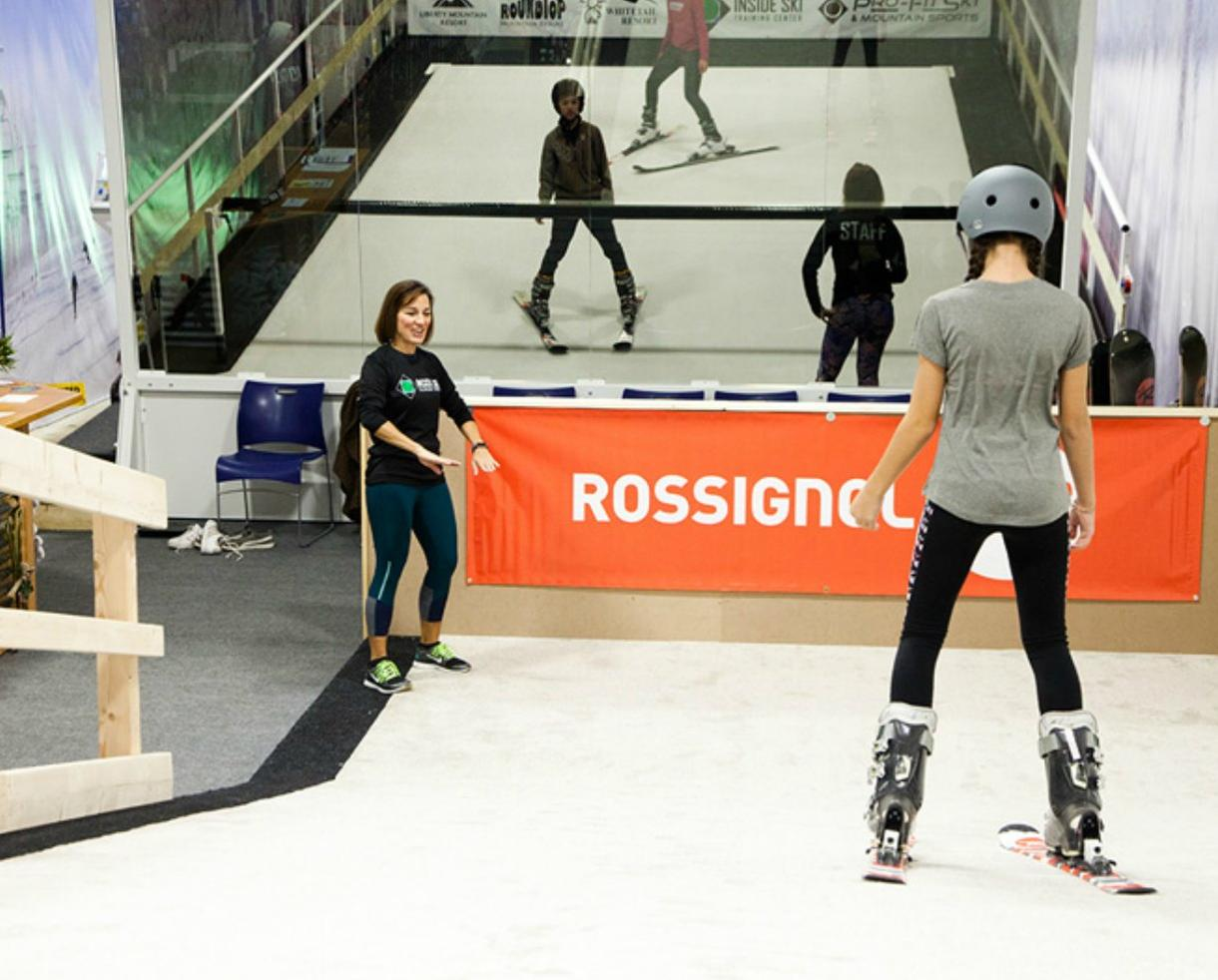 Group Ski or Snowboard Lessons at Inside Ski Training Center