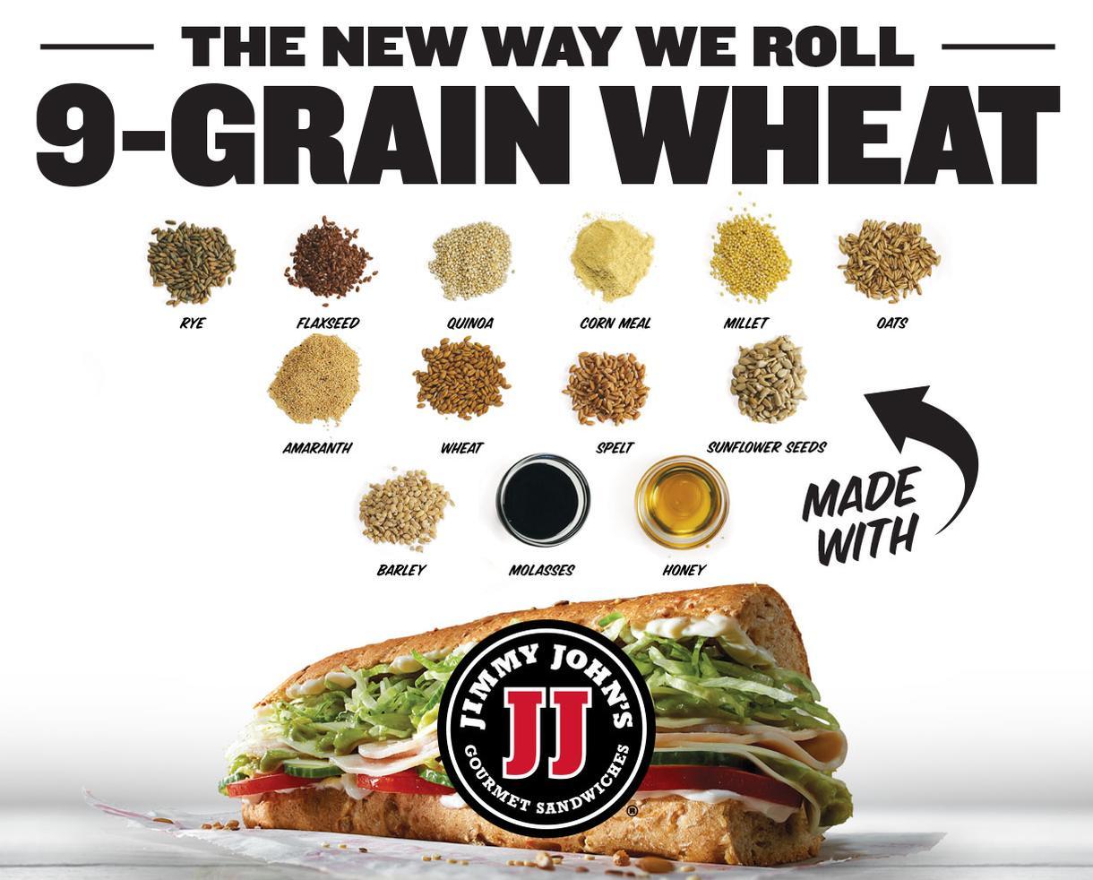 Wheat Yeah Freak Yeah! Try Jimmy John's NEW 9-Grain Wheat Sub!