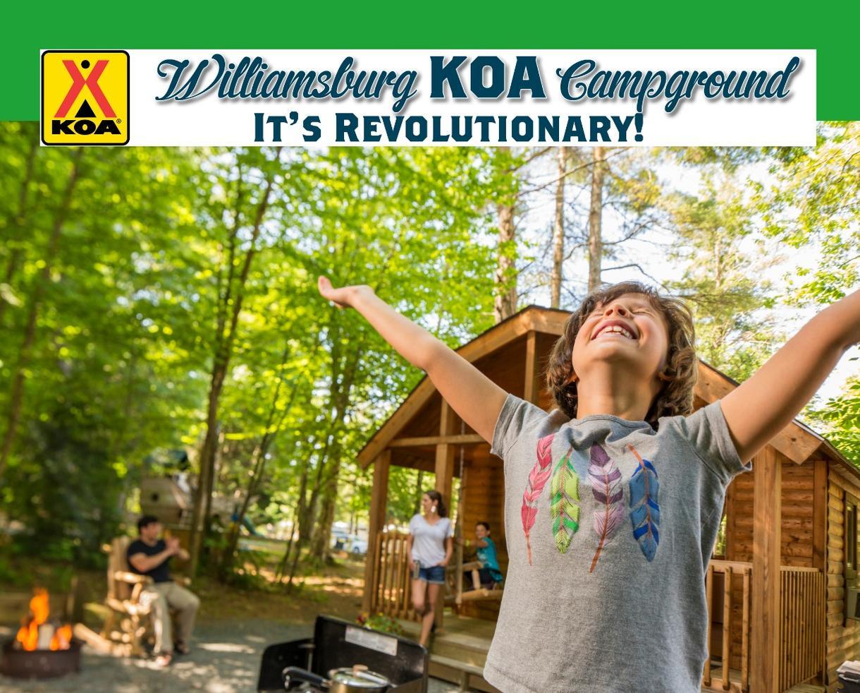 Williamsburg KOA Cabin or Camping Getaway