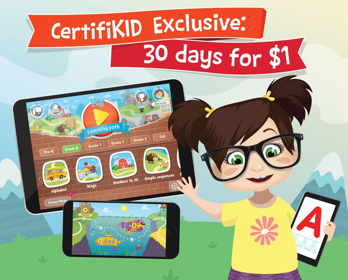 EXCLUSIVE OFFER: 30 Days of Kids Academy for Just $1