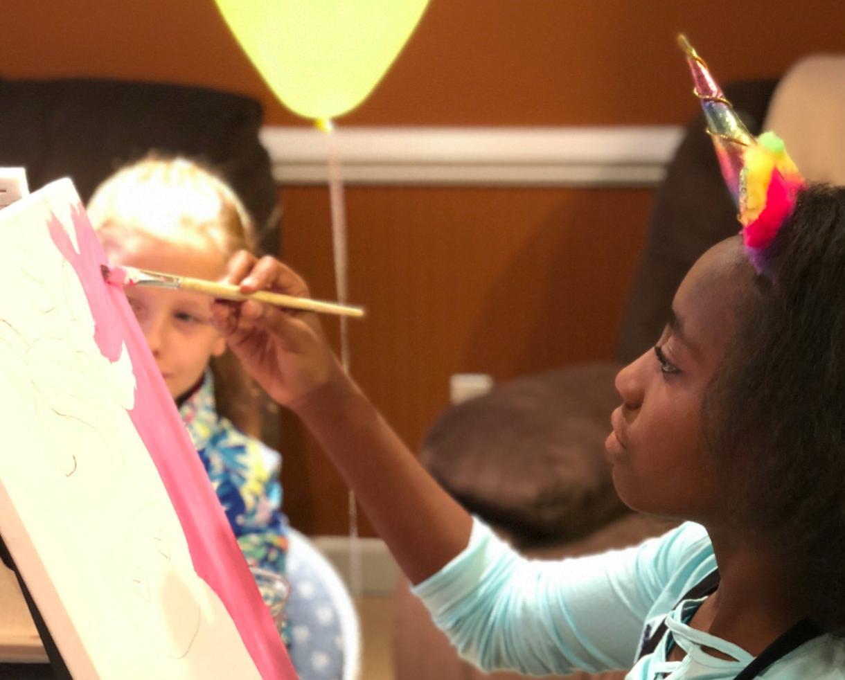 KidzArt Birthday Party or Palette Up Sip-N-Paint Party