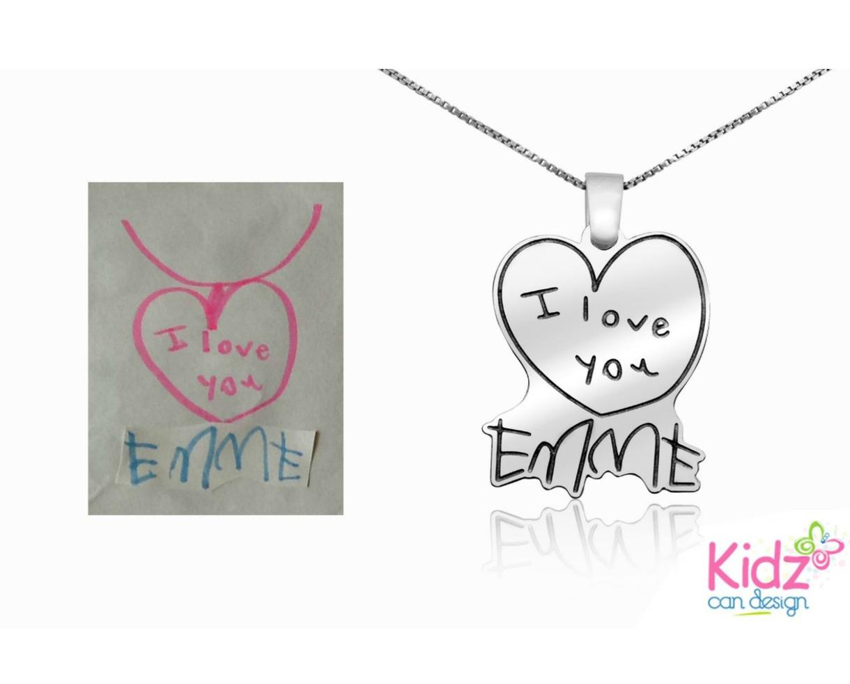 $24+ for Custom Sterling Silver Pendant Created from Your Child's Artwork from KidzCanDesign – Includes Shipping! (Up to 55% Off)