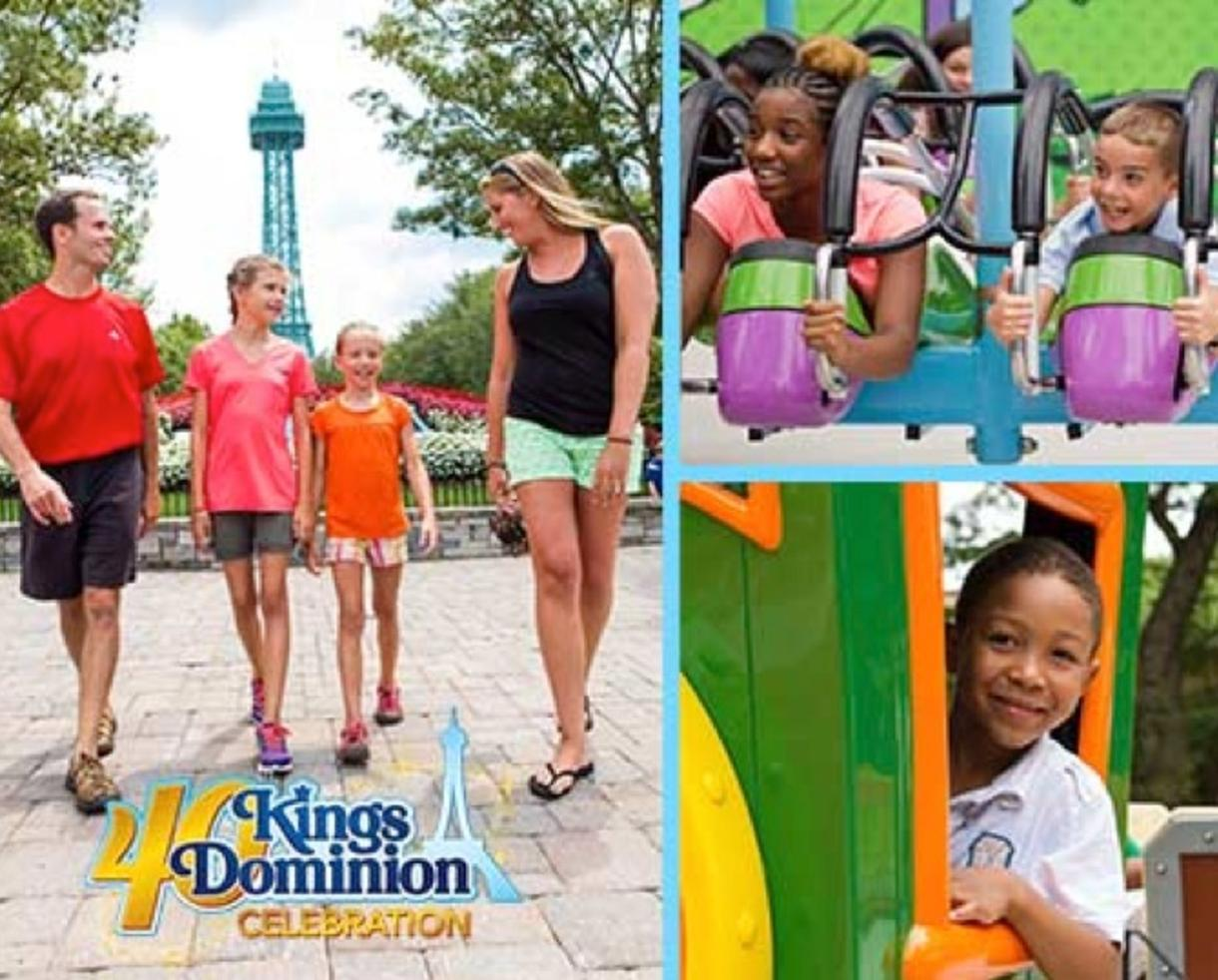 Deal Details. Play like a kid and pay like one too! Grab your family and head to Kings Dominion for a fun-filled day of thrills, chills, and surprises! With acres of rides, shows, and attractions, there is something for everyone.