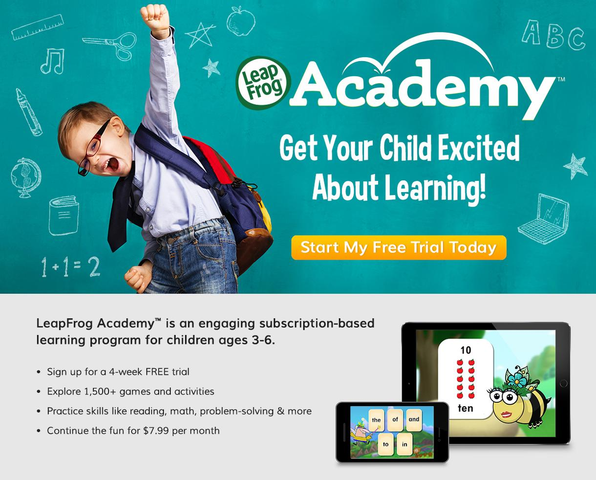 Try LeapFrog Academy™ FREE for 4 Weeks!