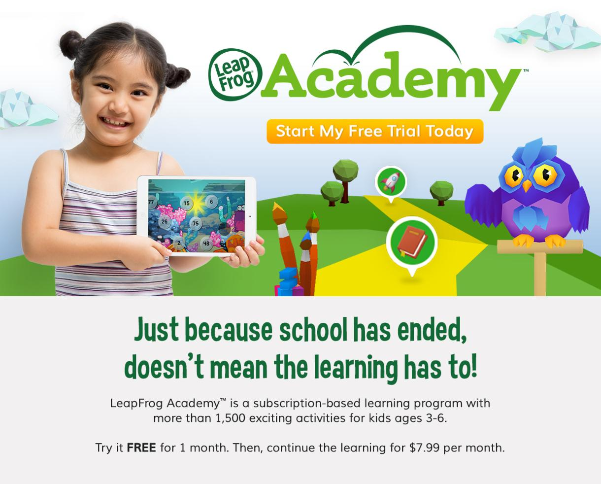 Try LeapFrog Academy™ FREE for One Month!