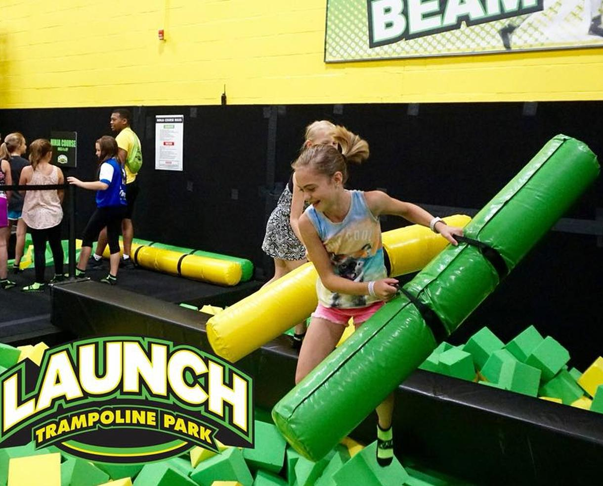 One 60-Minute Open Jump Pass at Launch Trampoline Park Herndon