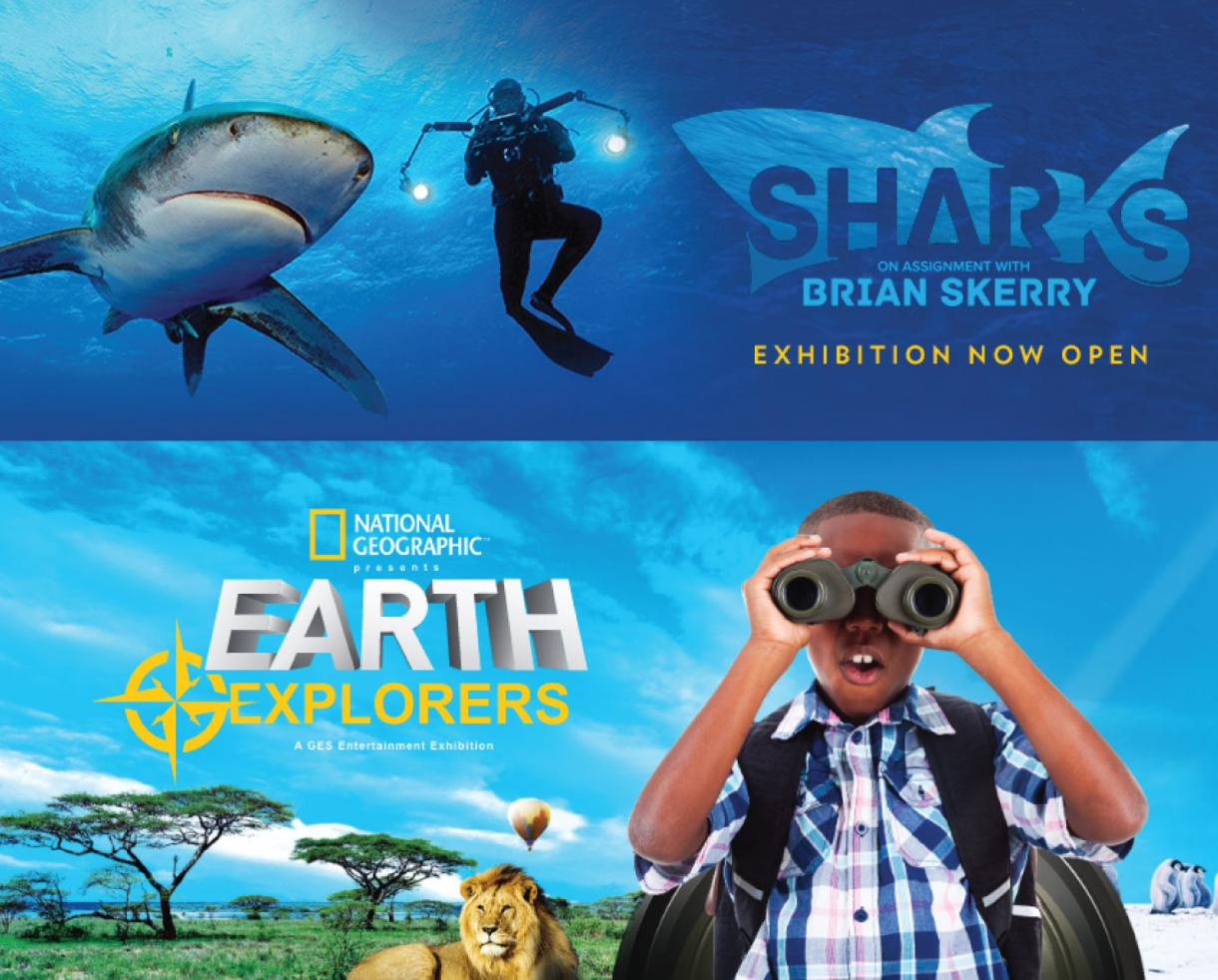 30% Off Nat Geo's Sharks and Earth Explorers Exhibitions at National Geographic Museum in DC