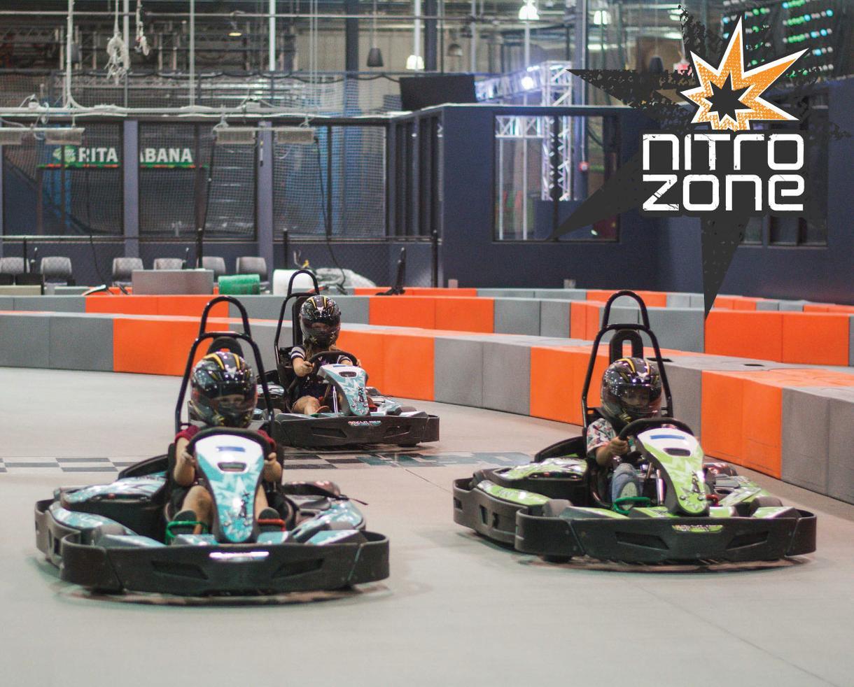 One Jr. Go Kart Race + Bazooka Ball Ticket at Nitro Zone