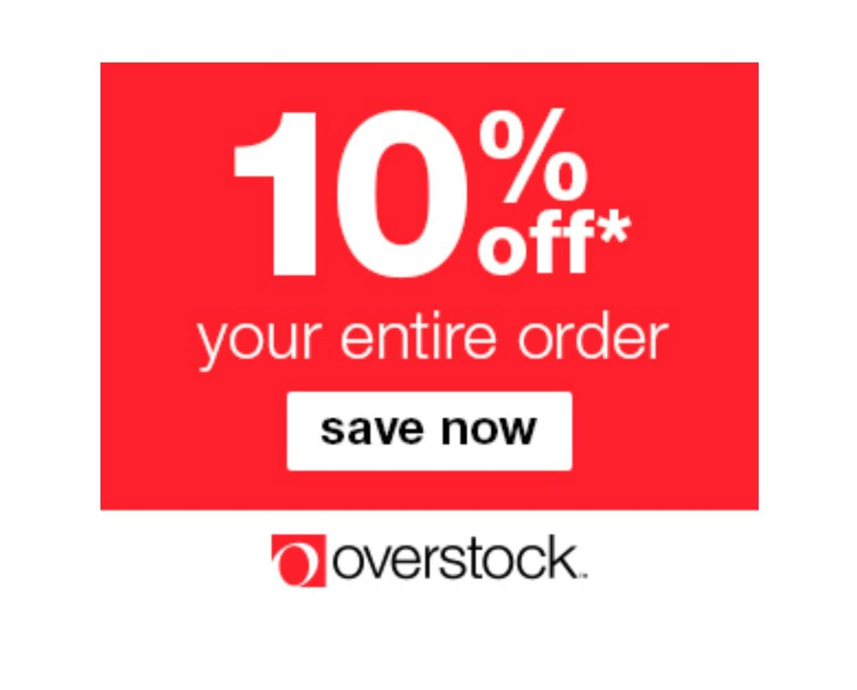 Extra 10% Off Your Order at Overstock