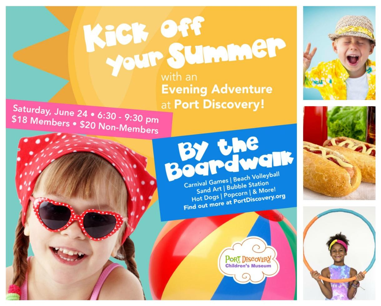 $16 for Port Discovery's By the Boardwalk Summer Evening Adventure - Saturday, June 24th (20% Off!)