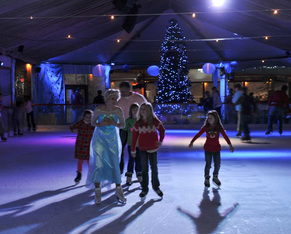 $6.99+ for Ice Skating & Rental at The Aquafina Rink at Park Tavern + FAMILY SEASON PASS OPTION (Up to 77% Off)