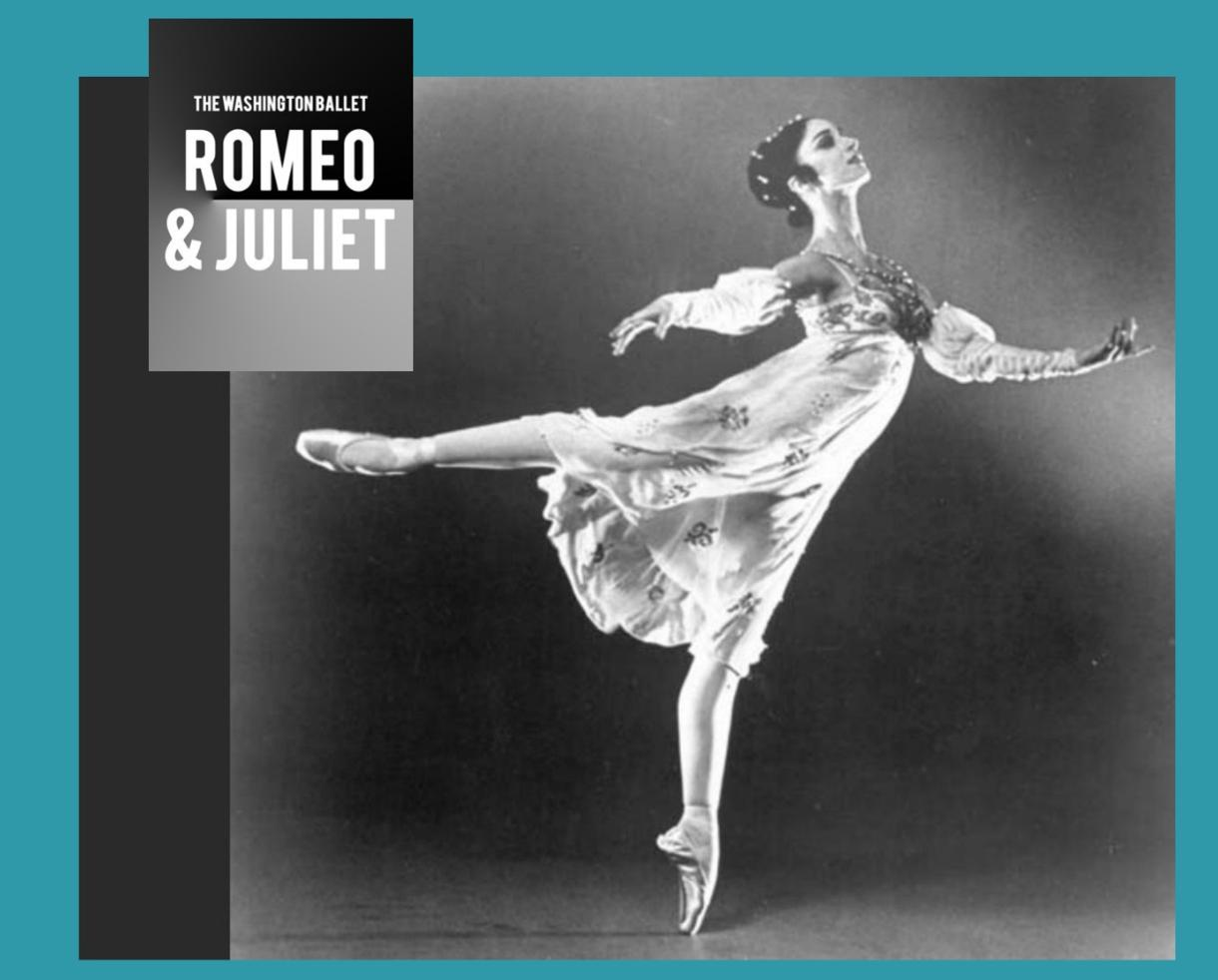 The Washington Ballet Presents Romeo and Juliet at The Kennedy Center Feb. 17-18, 2018 - Up to 35% Off Tickets!