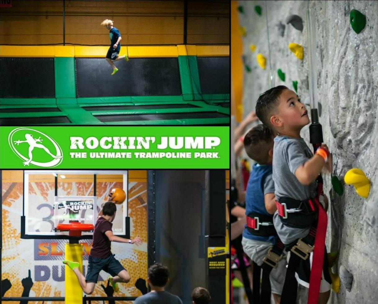 Rockin' Jump Trampoline Park Silver Birthday Party for Up to 10 Kids