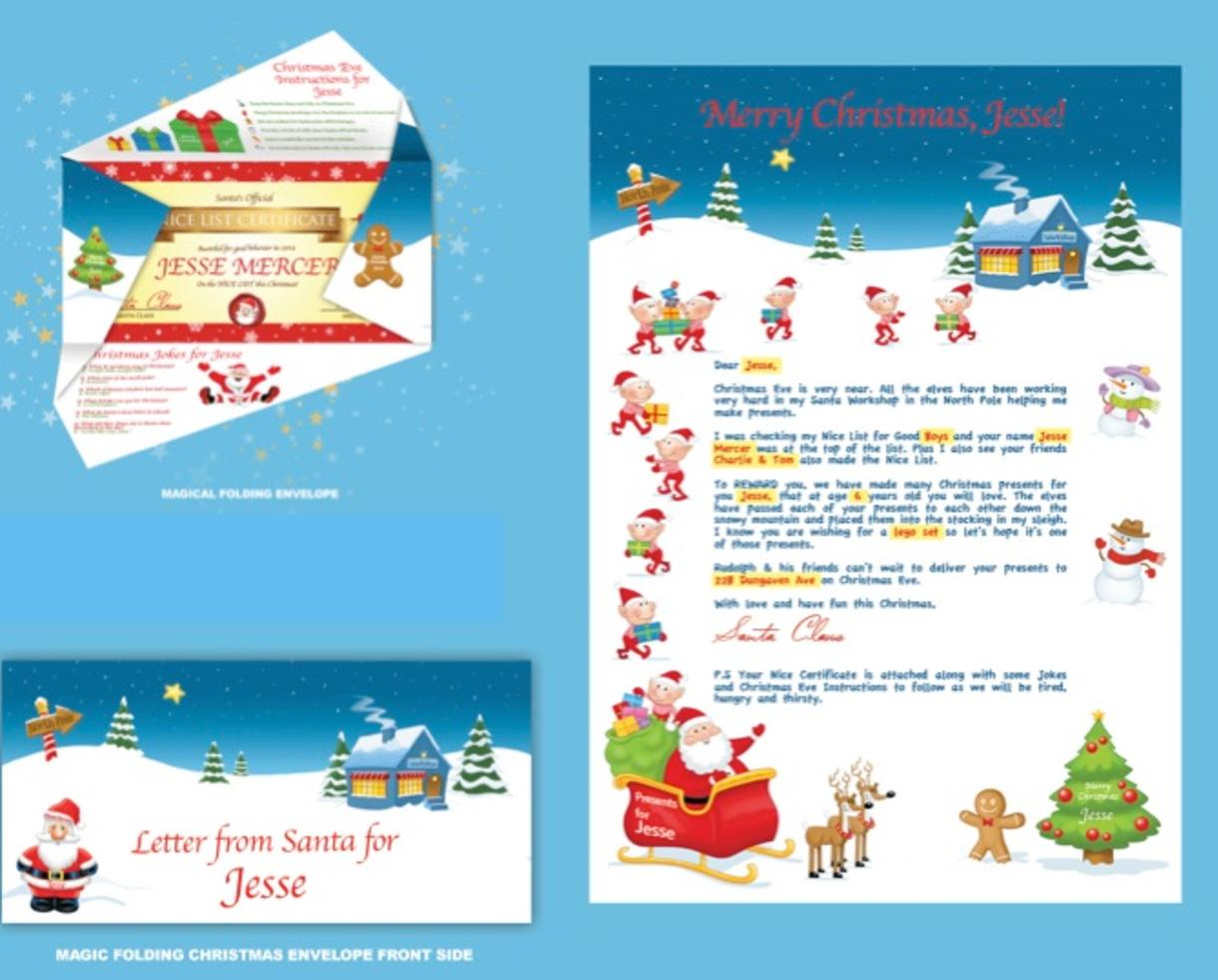 Lovely Letter From Santa Deal Pictures  Complete Letter Template