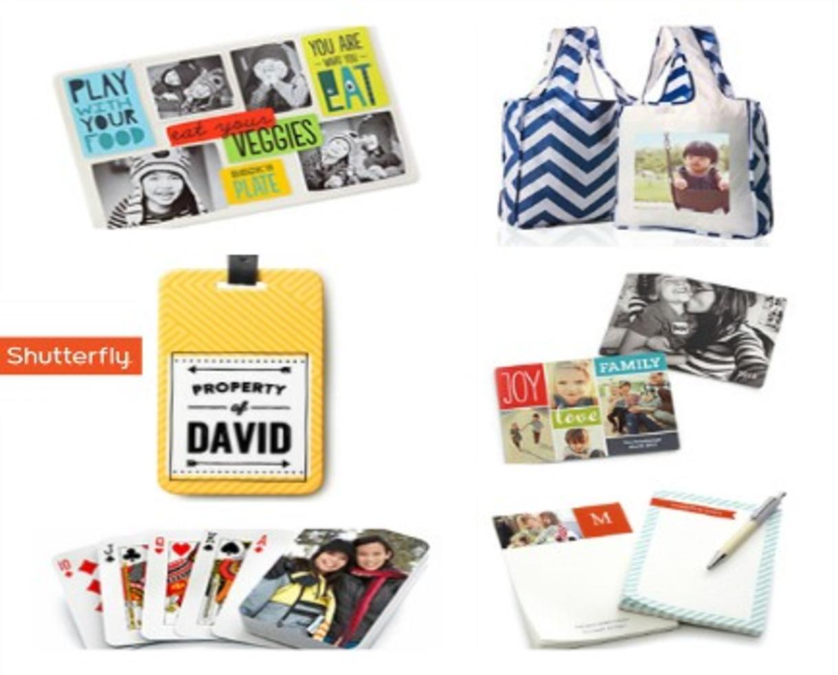 FREE Personalized Gift of Choice from SHUTTERFLY - 8 Options! No Purchase Necessary! (Up to $19.99 Value)