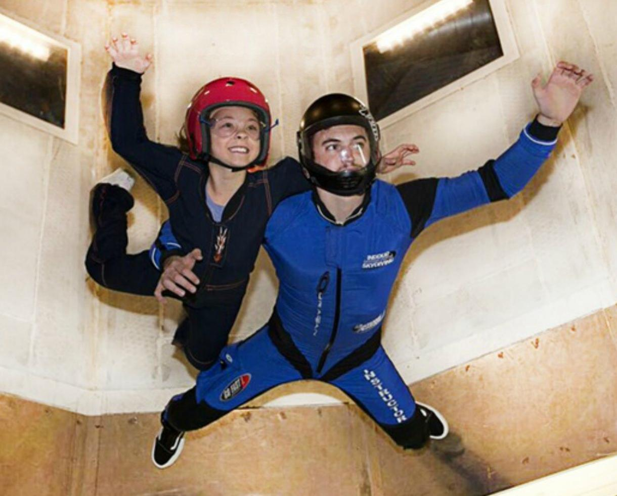 Two Basic Flights for One Person at Skydive Perris Indoor Skydiving