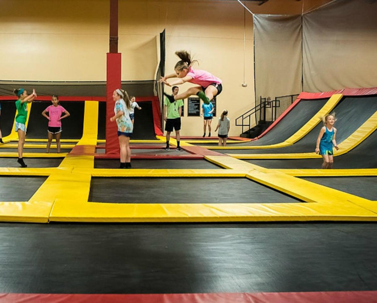$18 for 60-Minute Jump Session for TWO People or $35 for FOUR People at Stratosphere Trampoline Park - Eldersburg (Up to 45% Off)