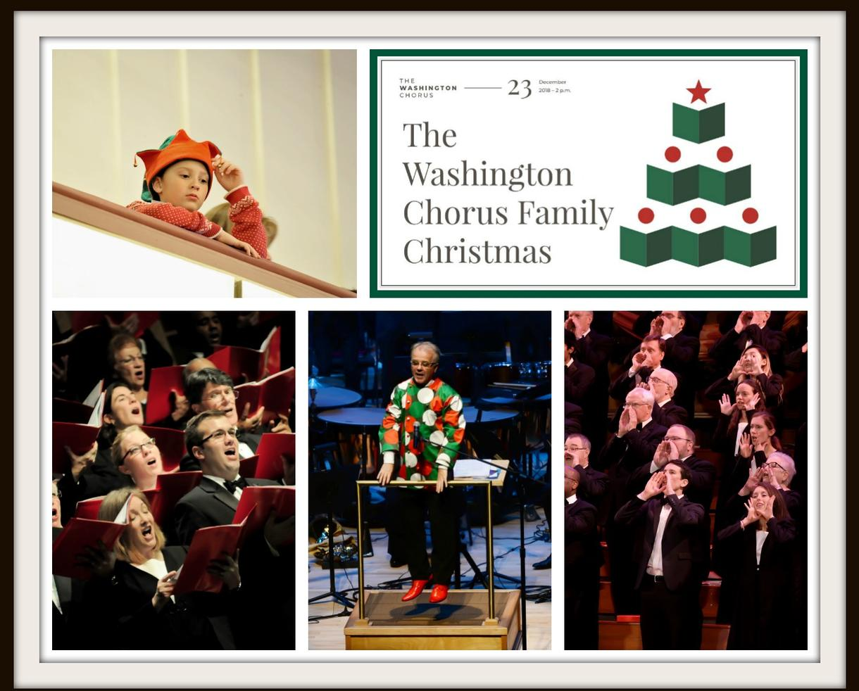 The Washington Chorus' FAMILY CHRISTMAS at George Mason's Center for the Arts