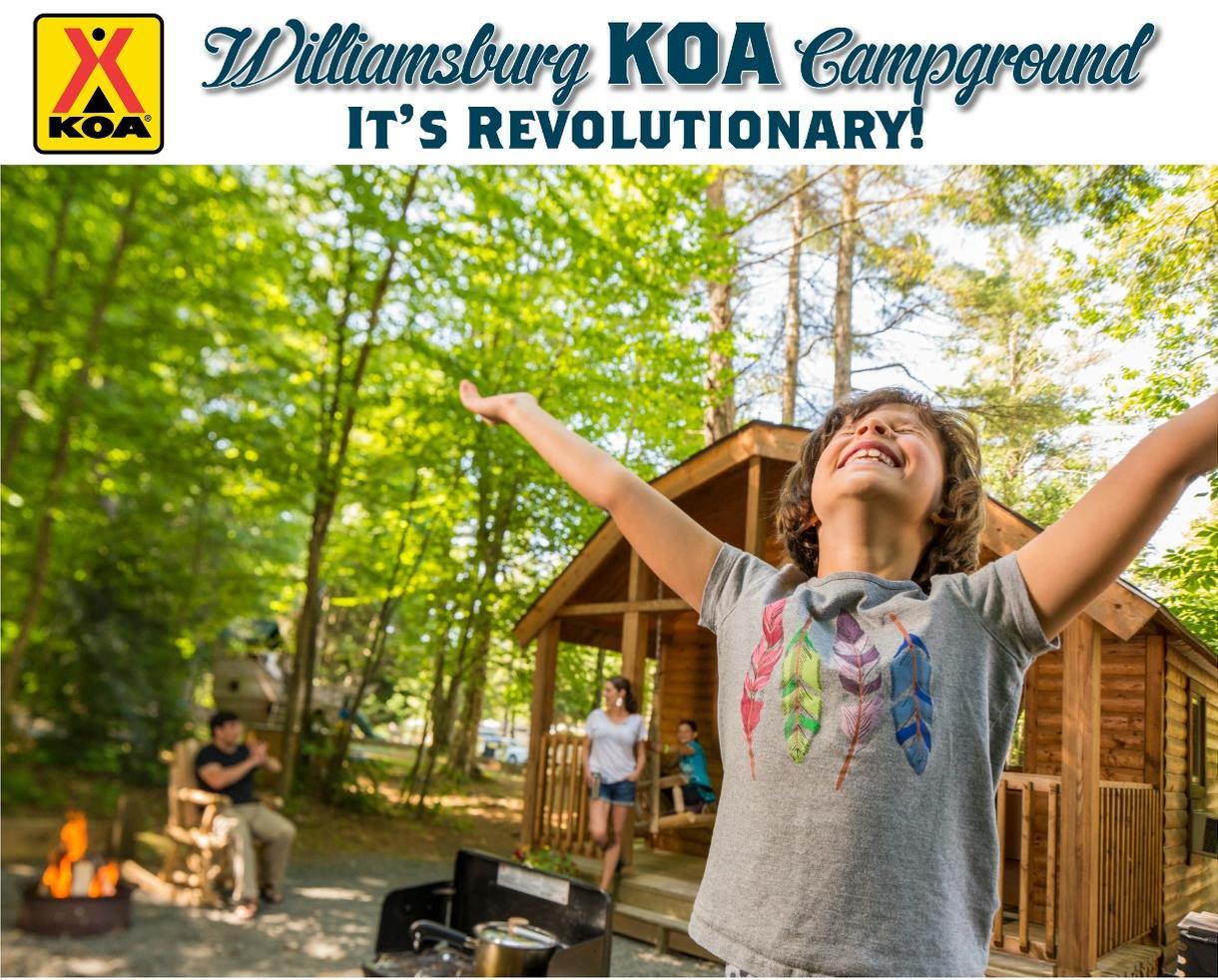 Williamsburg KOA 2-Night Cabin or Campsite Getaway