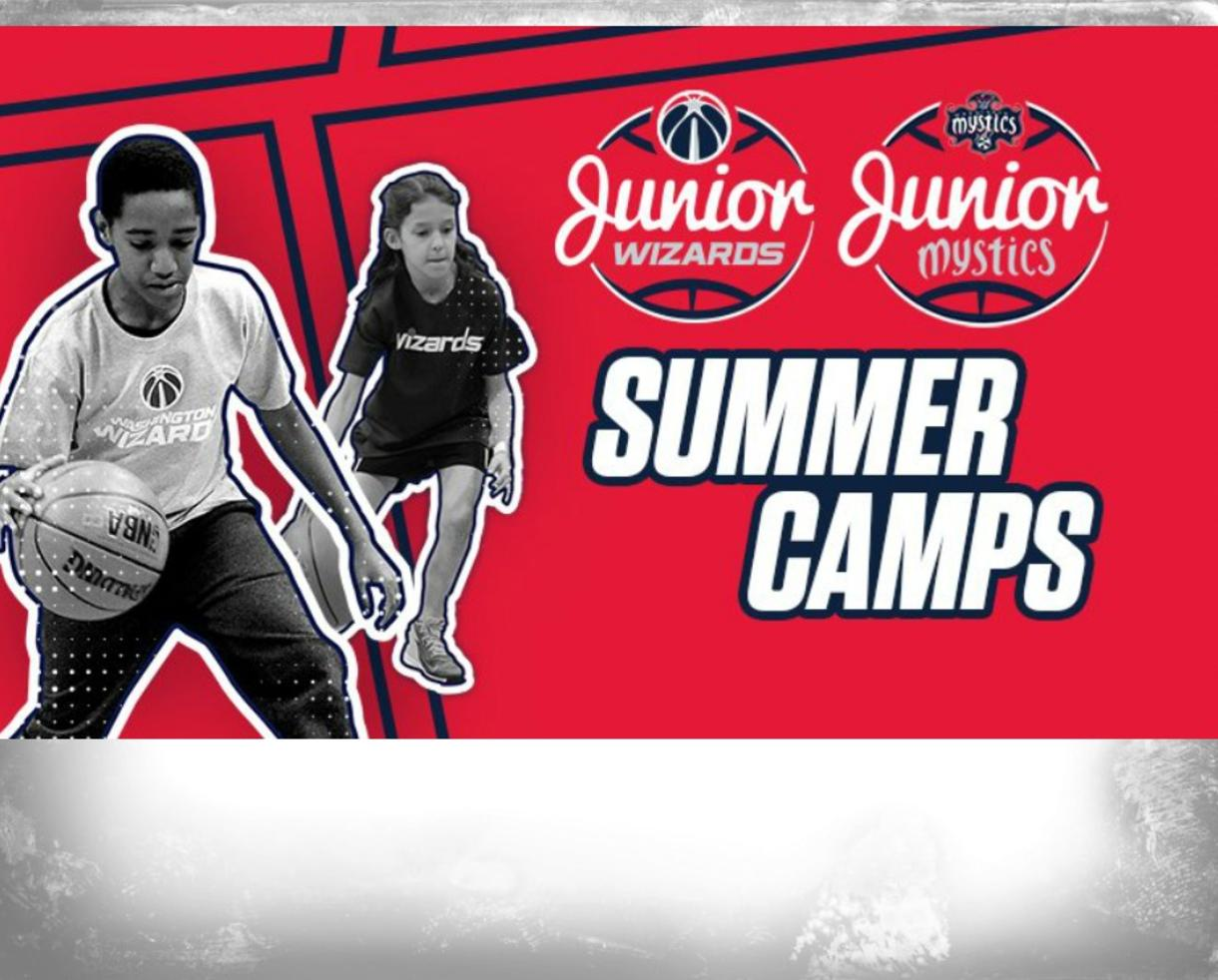 $280 for Jr. Wizards & Jr. Mystics Basketball Camp for Ages 6-14 - DC, MD & VA ($70 Off)