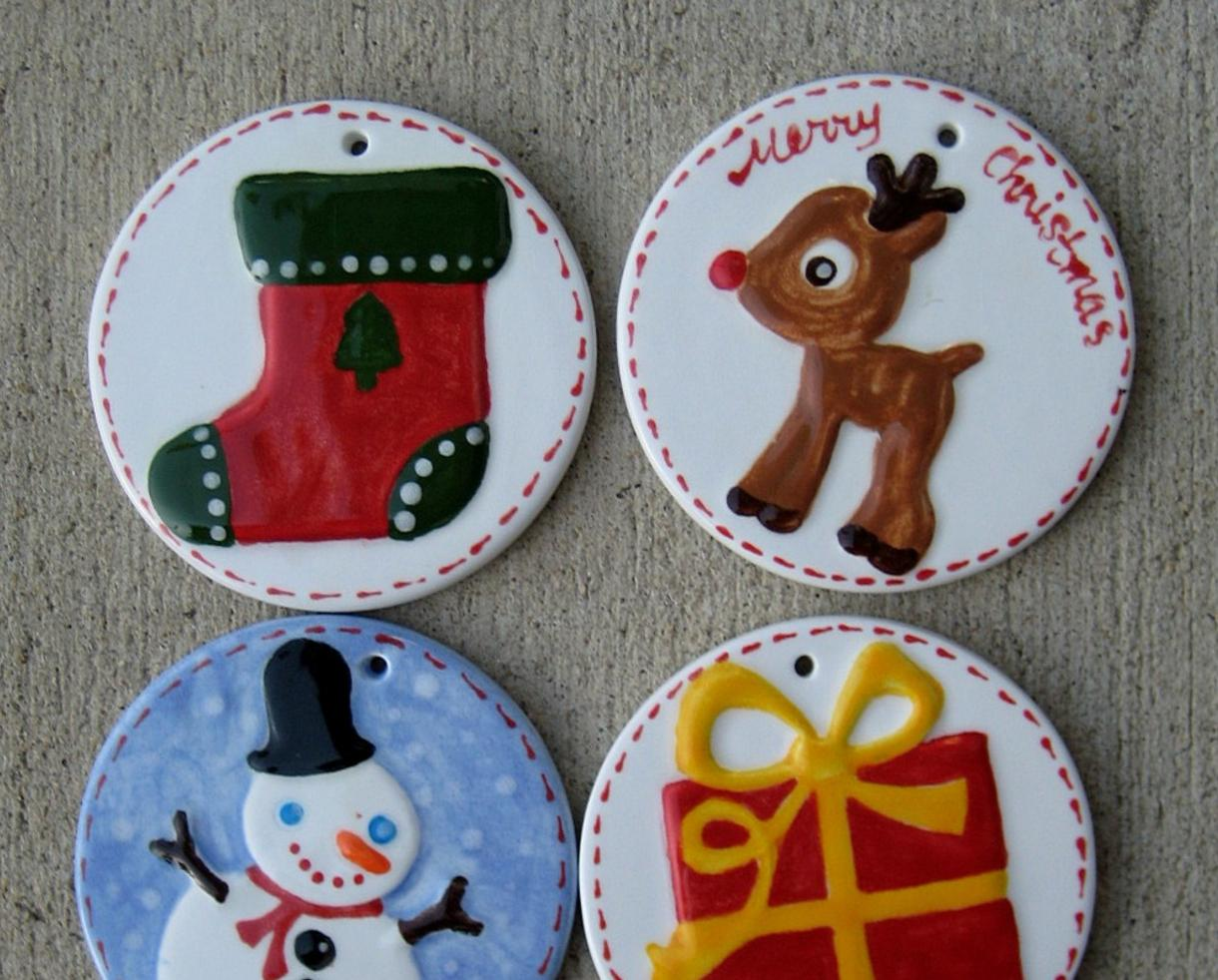 $20 for FOUR Holiday Ornaments PLUS Studio Fee at Clay Cafe of Chantilly (47% off )