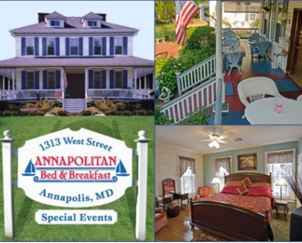 "$129 for One Night ""Sip & Stay"" Package for Two at The Annapolitan Bed & Breakfast in Annapolis ($225 Value - 43% Off)"