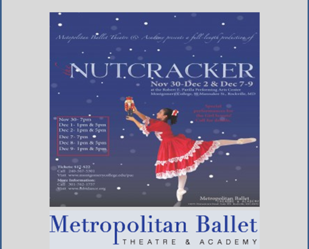 $12 for THE NUTCRACKER Ticket presented by Metropolitan Ballet Theatre - Rockville ($8 Off!)