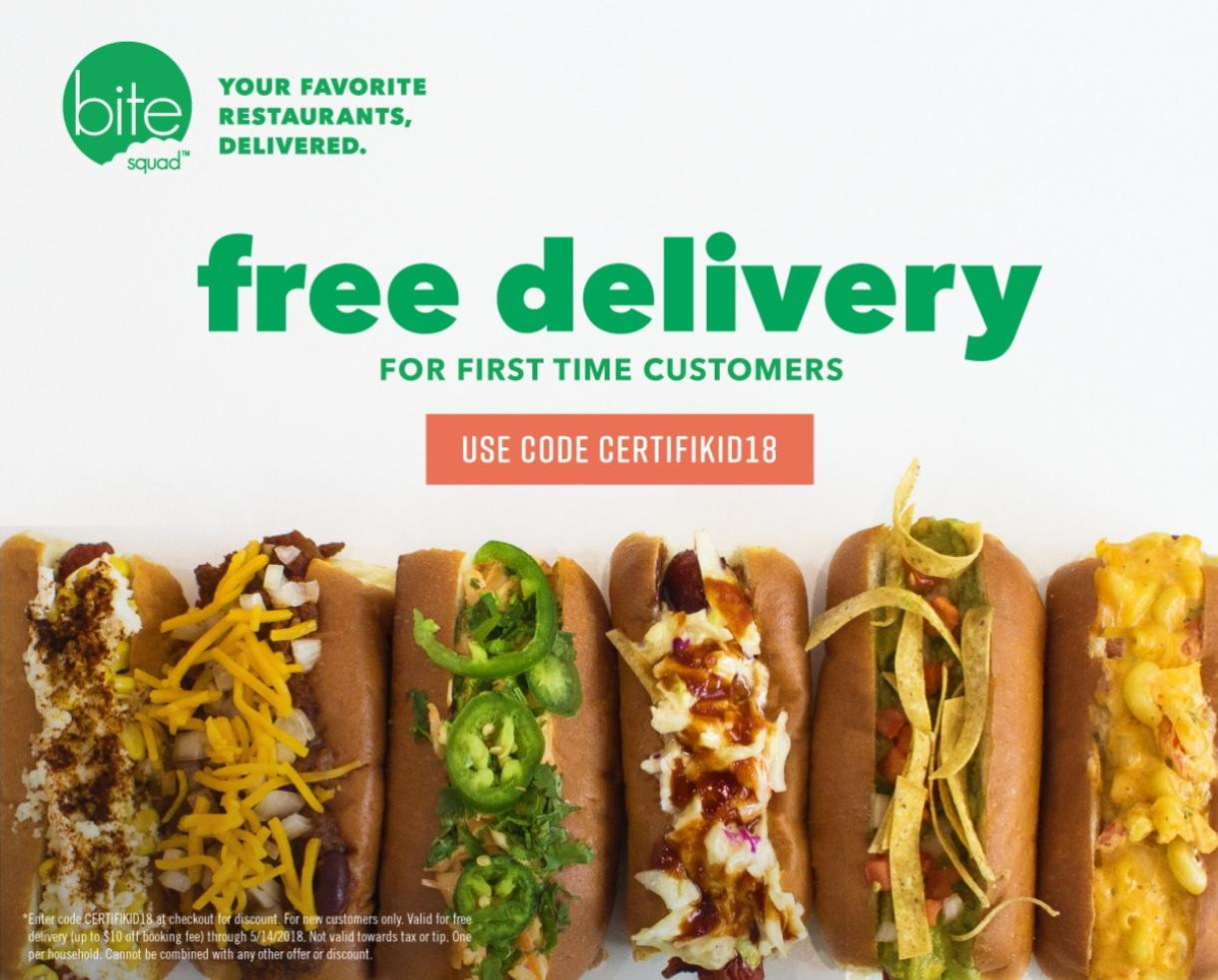 Free Food Delivery from Your Favorite Restaurants With Bite Squad!