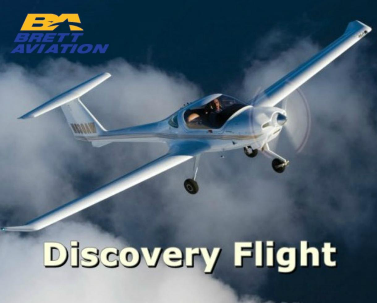 $75 for Adult Discovery Flight OR $95 for Parent+Child/Couples Discovery Flight From Brett Aviation (Up to 53% Off)