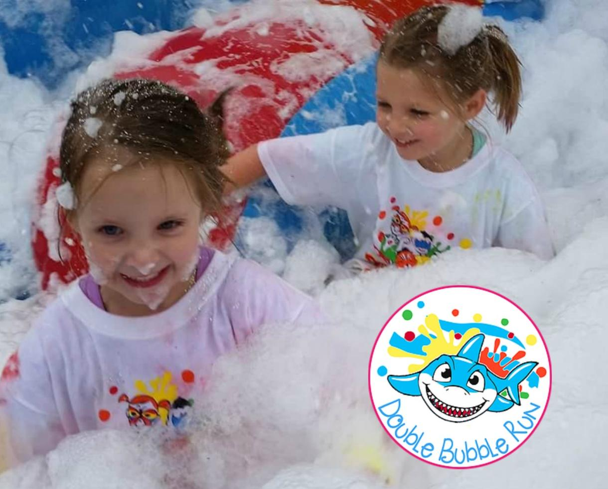 One Adult AND One Child Admission to the Double Bubble Fun Run