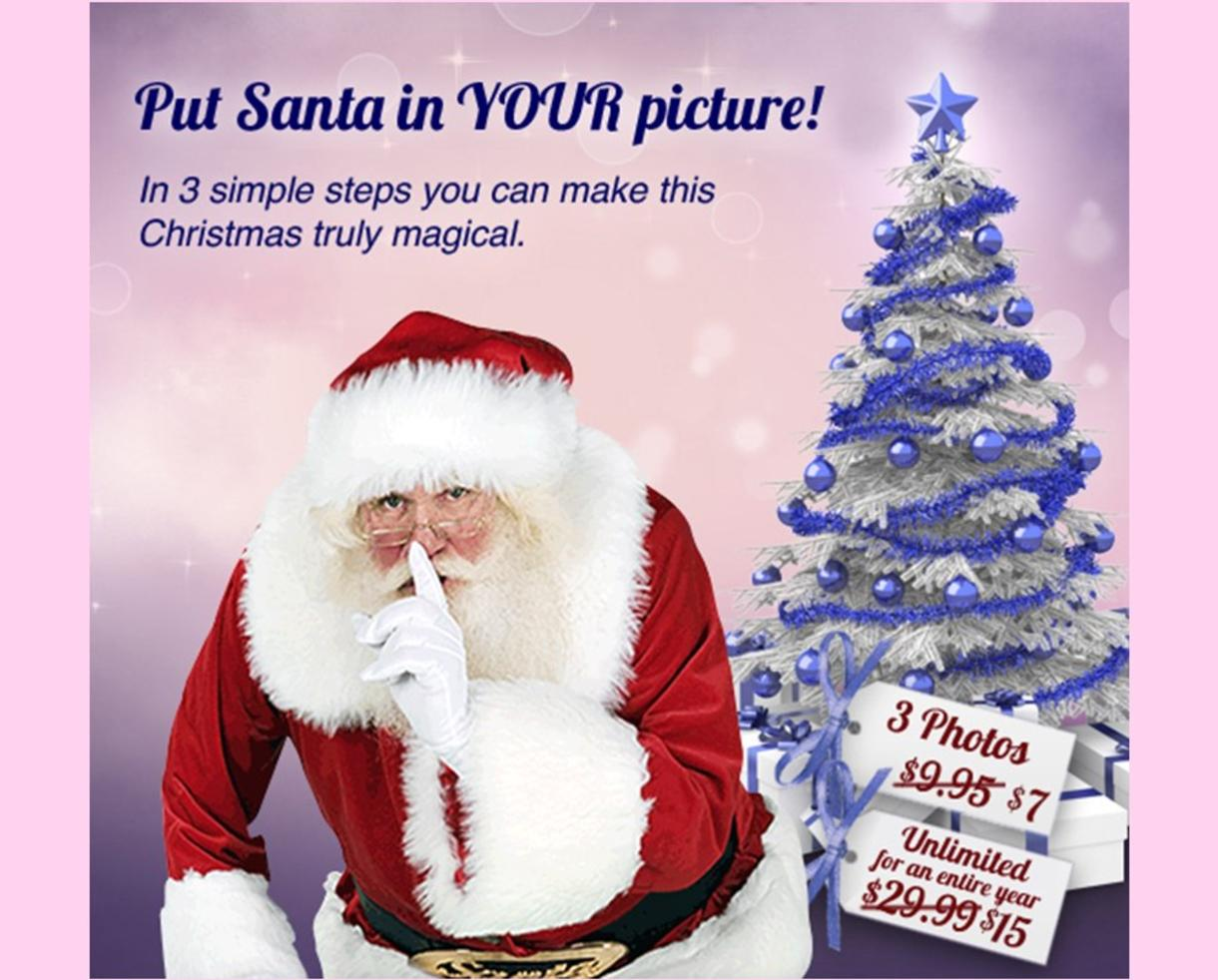 Deal 7 for three capture the magic photos seeing is believing 7 for three capture the magic photos seeing is believing put santa in your photos and make christmas truly magical or 15 for unlimited photos m4hsunfo