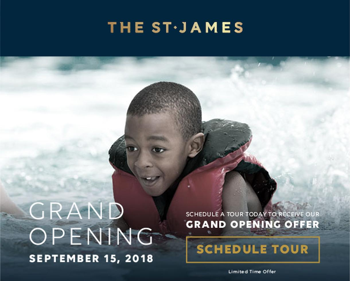 THE ST. JAMES: Grand Opening September 15th!
