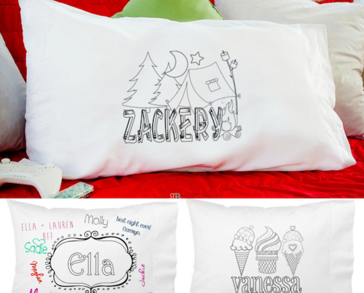 $12 for Personalized Kids Color-On Pillowcase – 29 Designs ...