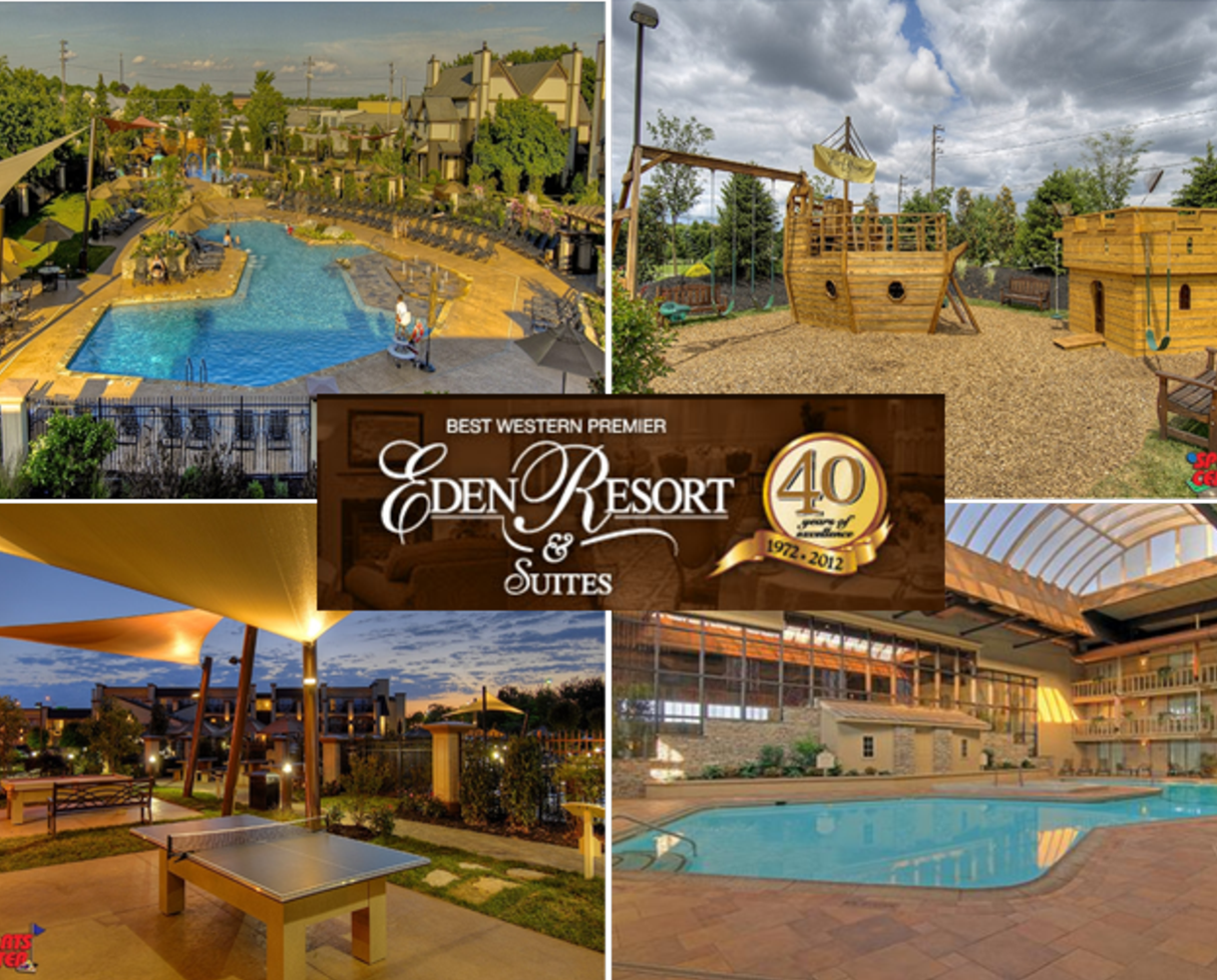 $99 for Overnight Stay at Eden Resort in Lancaster + $25 Food Credit + KIDS EAT FREE!! (47% off)