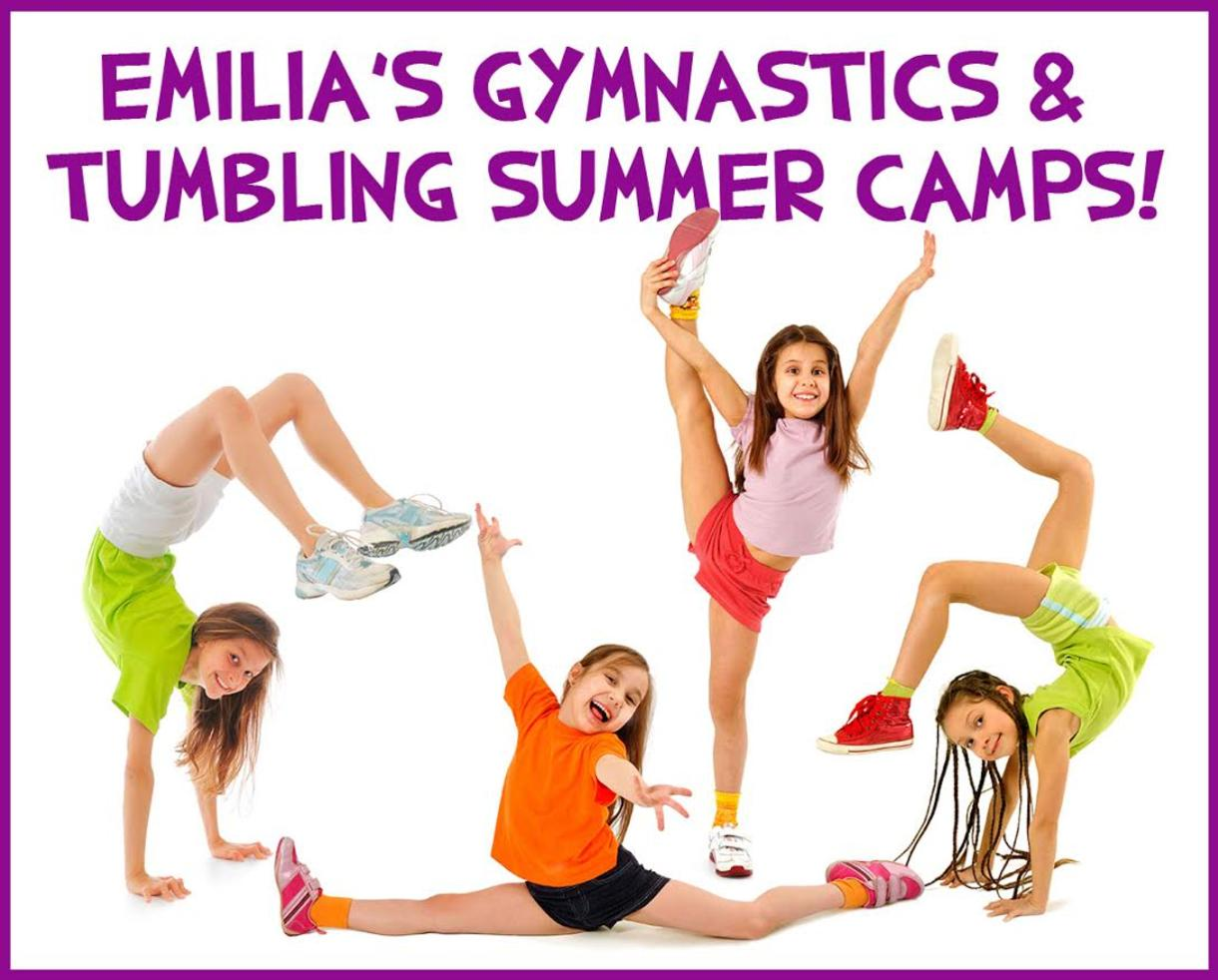 $135+ for AUGUST Gymnastics or Tumbling Camp for Ages 5-16 at Emilia's Acrobatics and Gymnastics Club - Laurel (Up to 23% Off)
