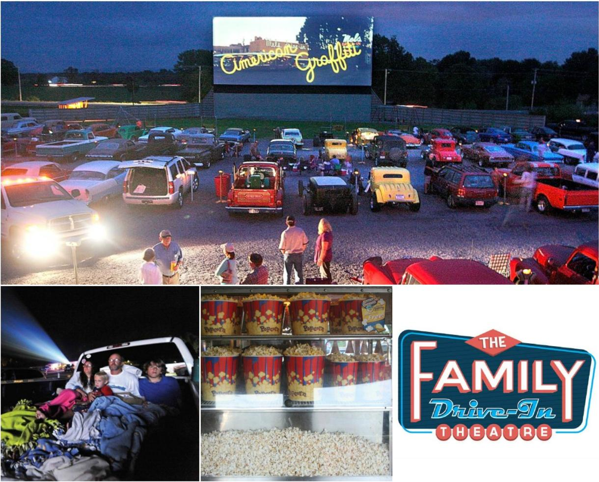 $15 for The Family Drive-In Theatre - 2 Adult Admissions, Popcorn & Drinks! ($25 Value - 40% Off)