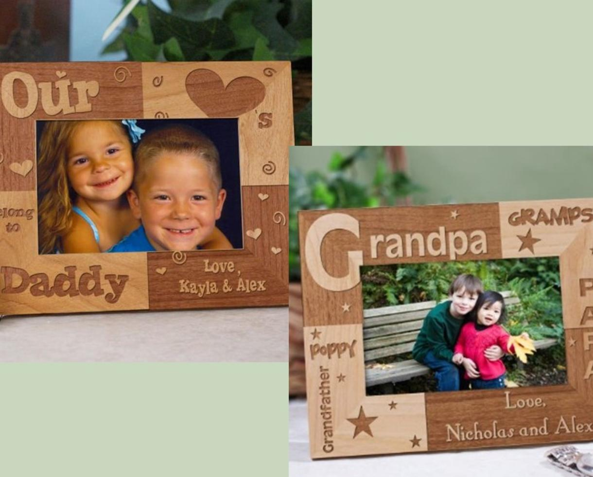 14 for personalized wood fathers day frames several designs for your favorite dad grandpa 25 value 44 off